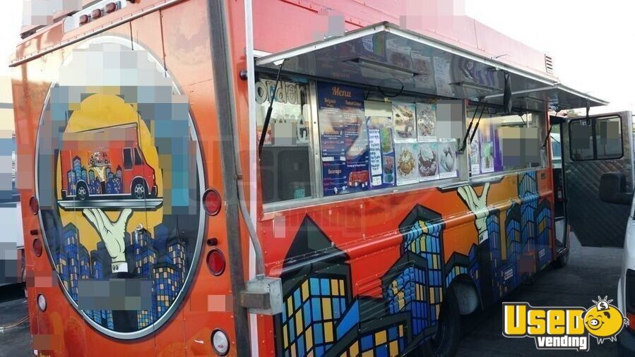 2001 Chevy P30 Food Truck Concession Window California Diesel Engine for Sale - 3