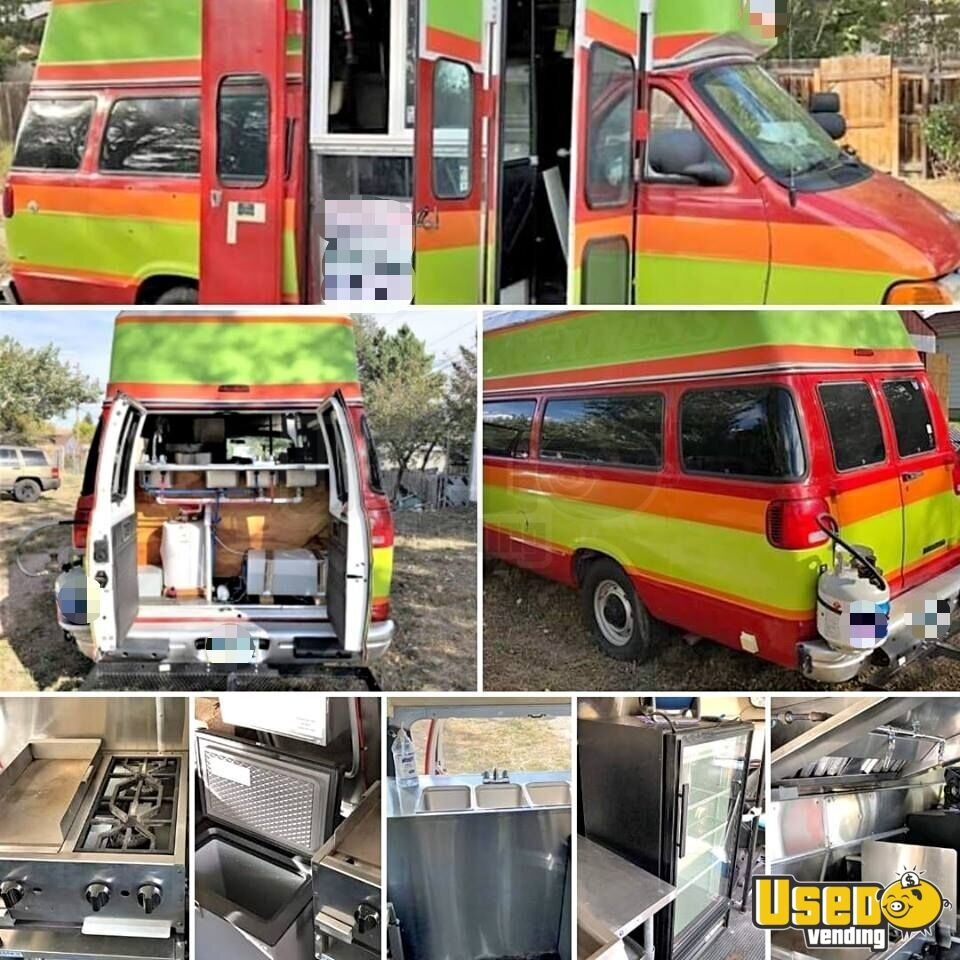 2001 Dodge Ram Van All-purpose Food Truck Air Conditioning Wyoming Gas Engine for Sale - 2