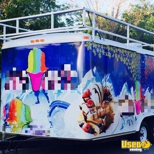 2001 Shaved Ice Concession Trailer Snowball Trailer Air Conditioning Nevada for Sale