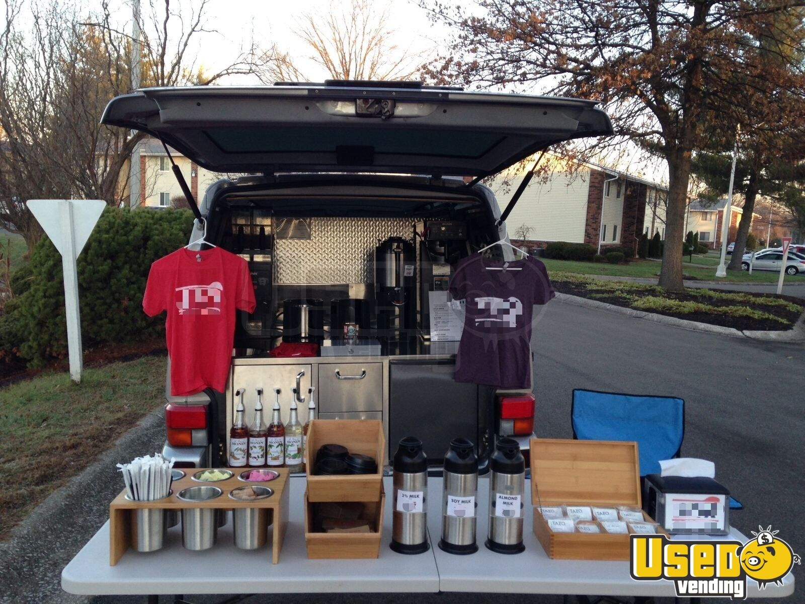 2001 Volkswagen Eurovan Coffee Truck Fresh Water Tank Indiana Gas Engine for Sale - 7