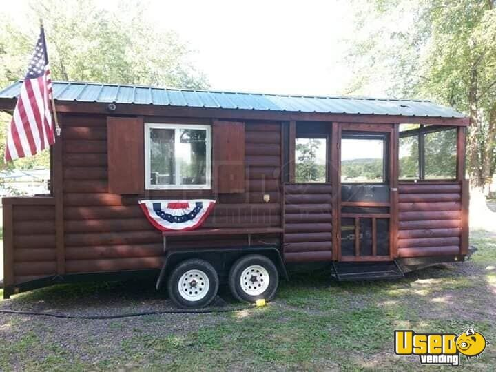 2002 Barbecue Food Trailer Concession Window Maryland for Sale - 2