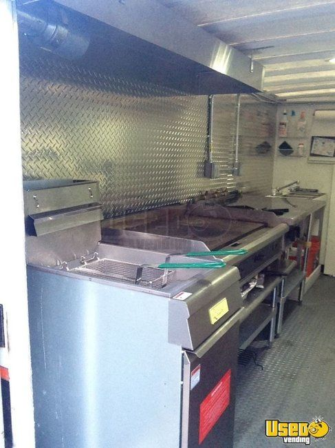 2002 Chevy Cutaway Food Truck Concession Window Pennsylvania Gas Engine for Sale