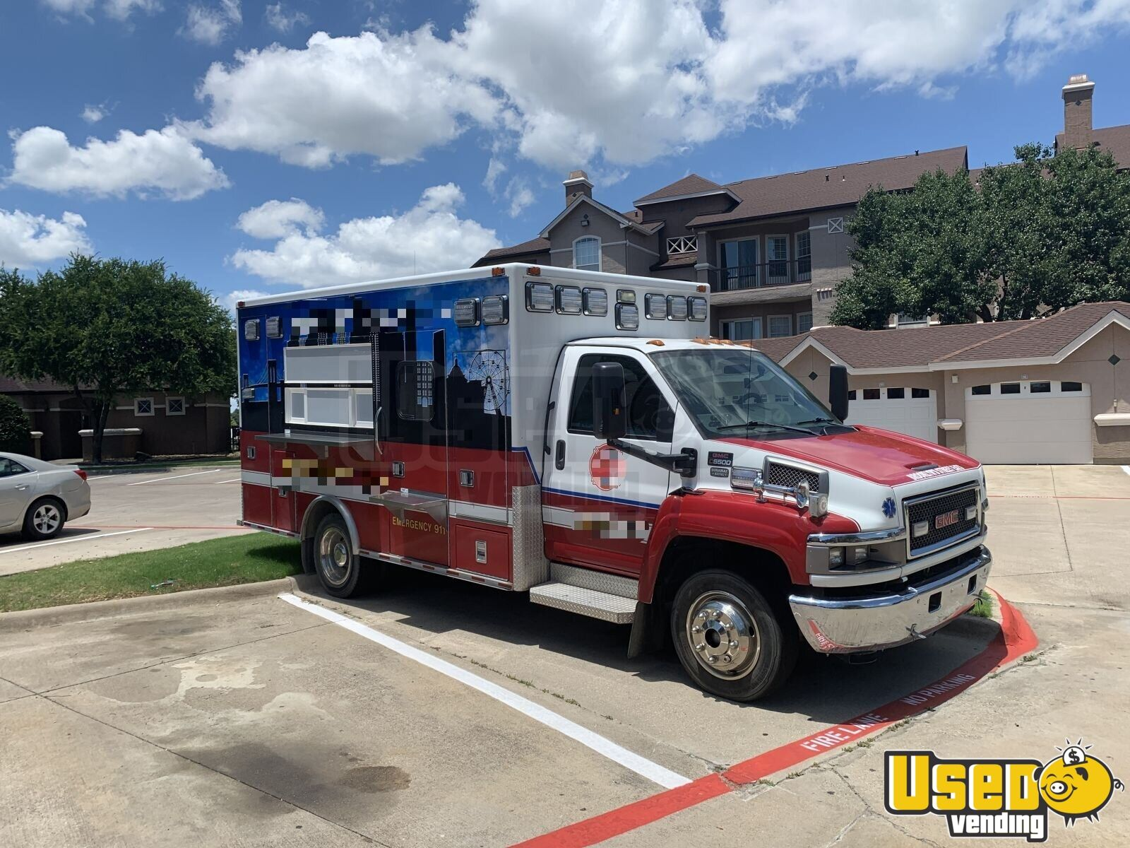 2002 Gmc All-purpose Food Truck Concession Window Texas Diesel Engine for Sale - 3