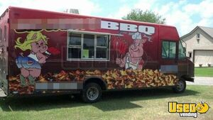 2002 Step Van Barbecue Food Truck Barbecue Food Truck Diamond Plated Aluminum Flooring Florida Gas Engine for Sale