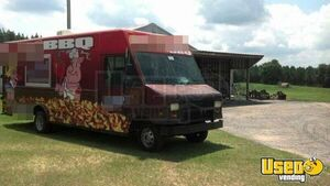 2002 Step Van Barbecue Food Truck Barbecue Food Truck Insulated Walls Florida Gas Engine for Sale