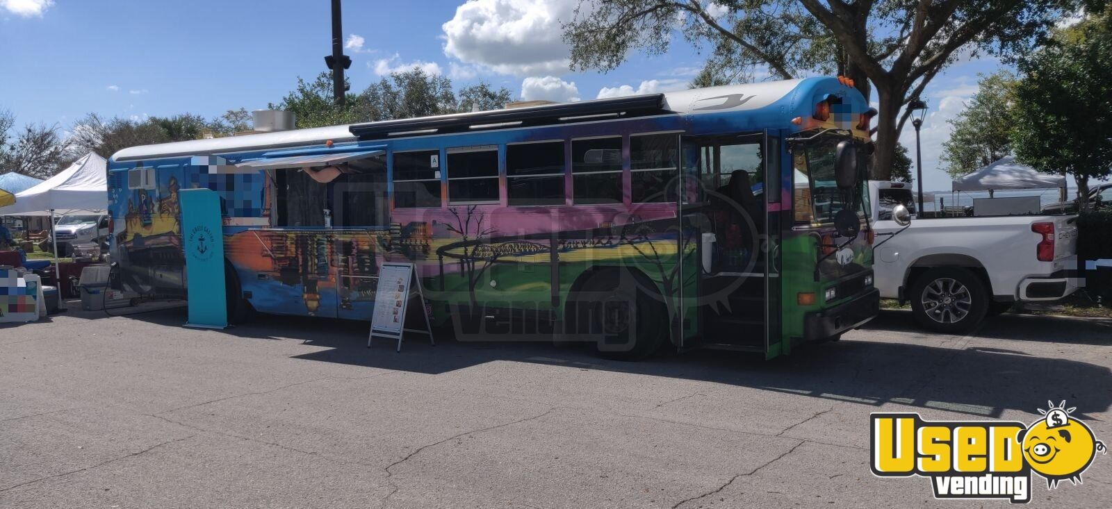 Bluebird Bus All American 2003 Diesel Exotic Food Truck for Sale in Florida!