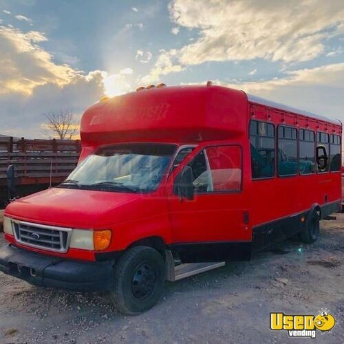 2003 Ford E450 Coffee Truck Concession Window Utah Diesel Engine for Sale - 2