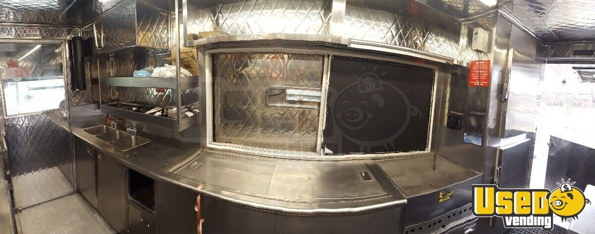 2003 Gmc Workhorse All-purpose Food Truck Stainless Steel Wall Covers New York Gas Engine for Sale - 3