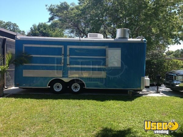 2004 2004 Cherokee All-purpose Food Trailer Stainless Steel Wall Covers Florida for Sale