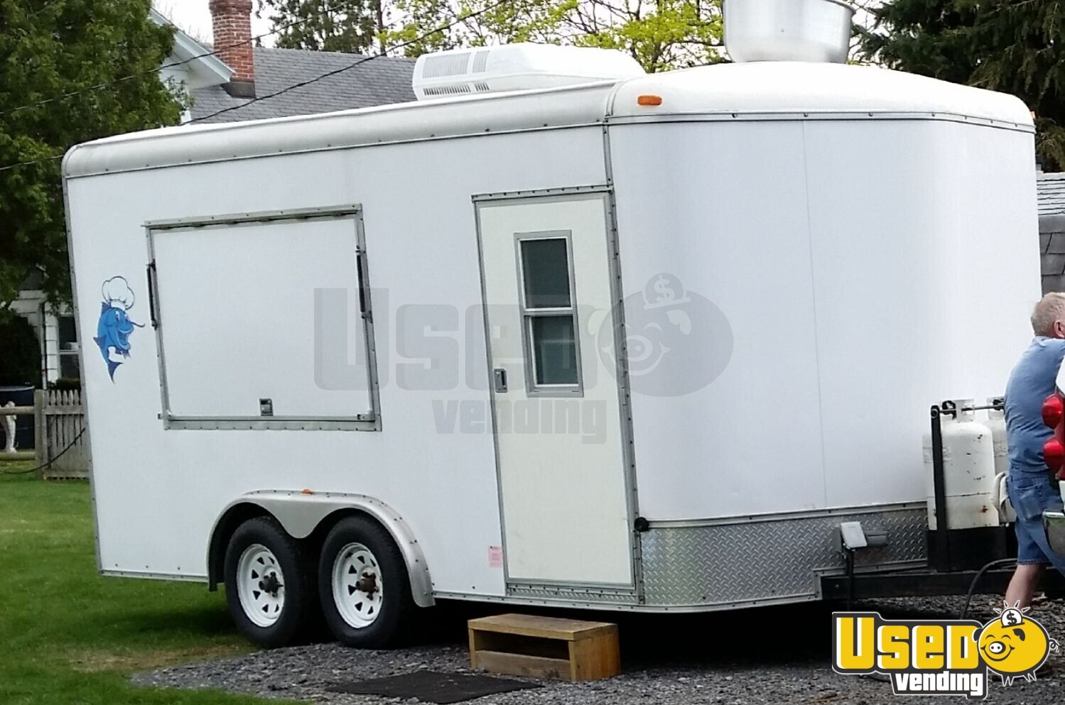 2004 A-ok Kitchen Food Trailer Air Conditioning Pennsylvania for Sale - 2