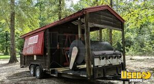 2004 Barbecue Concession Trailer Barbecue Food Trailer Concession Window Georgia for Sale