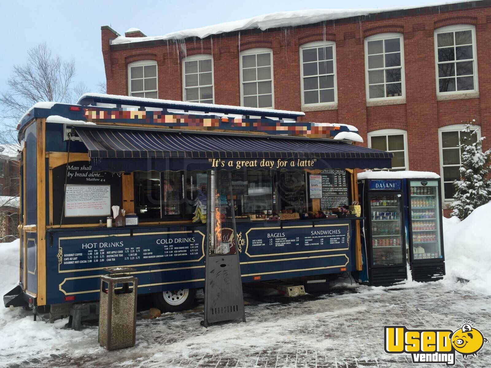 2004 Classic Trolley, Medford, Or Coffee Trailer Concession Window New Hampshire for Sale - 3