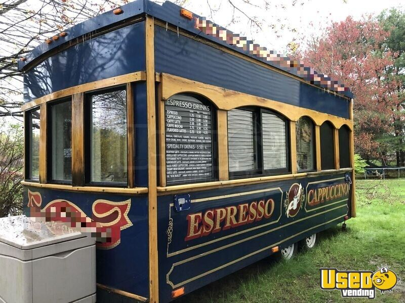 2004 Classic Trolley, Medford, Or Coffee Trailer Refrigerator New Hampshire for Sale - 10