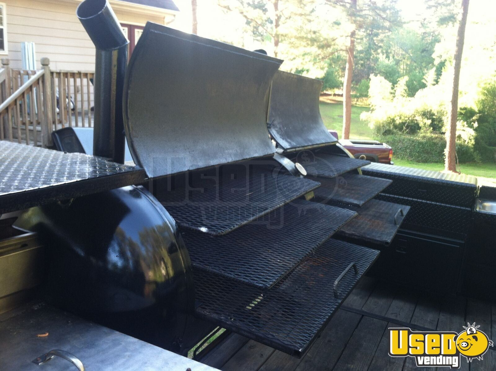 2004 Custom Made Open Bbq Smoker Trailer Double Sink Georgia for Sale - 5