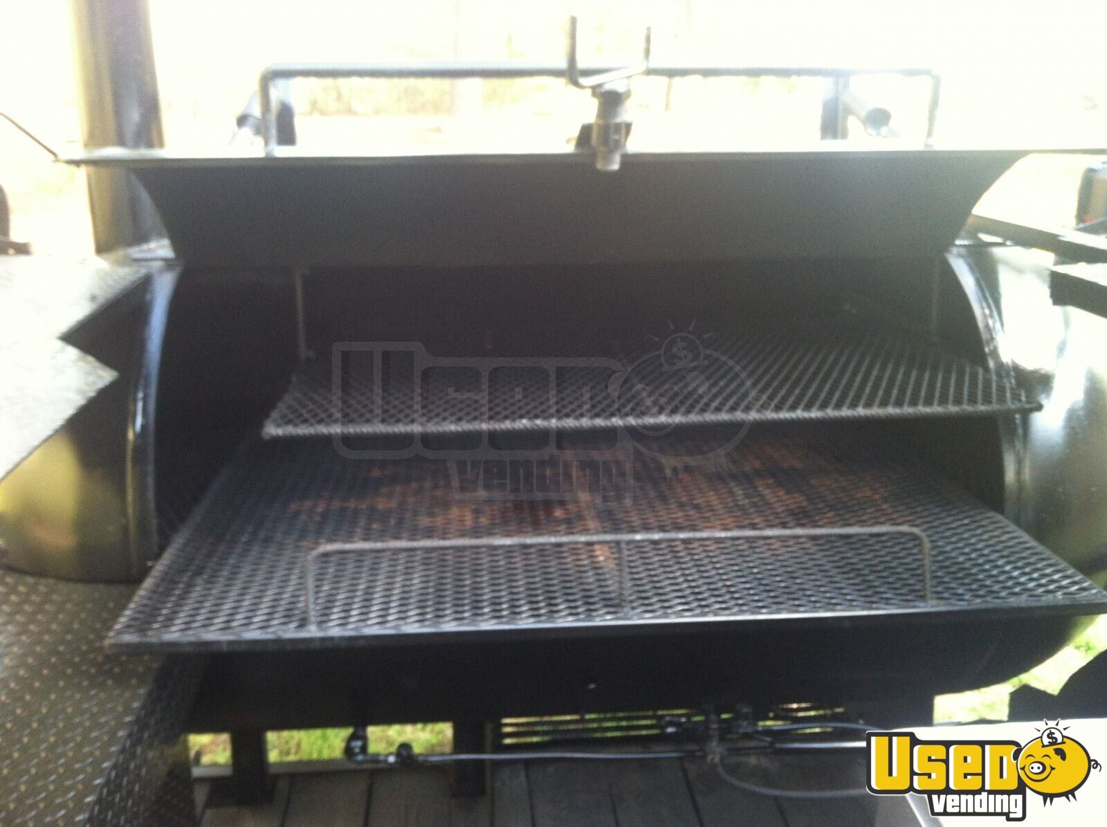 2004 Custom Made Open Bbq Smoker Trailer Fresh Water Tank Georgia for Sale - 6