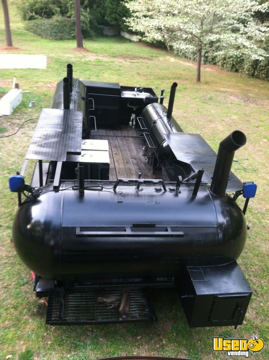 2004 Custom Made Open Bbq Smoker Trailer Fryer Georgia for Sale - 3