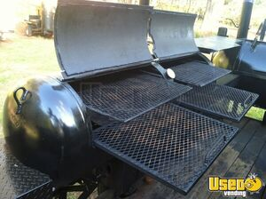 2004 Custom Made Open Bbq Smoker Trailer Hot Water Heater Georgia for Sale