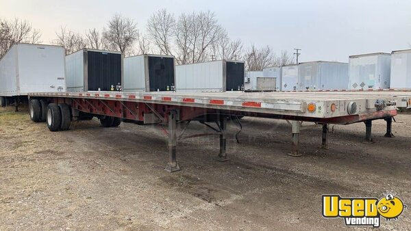 "2004 Eagle 48' X 102"" Combo Flatbed Trailer Flatbed Trailer Michigan for Sale"