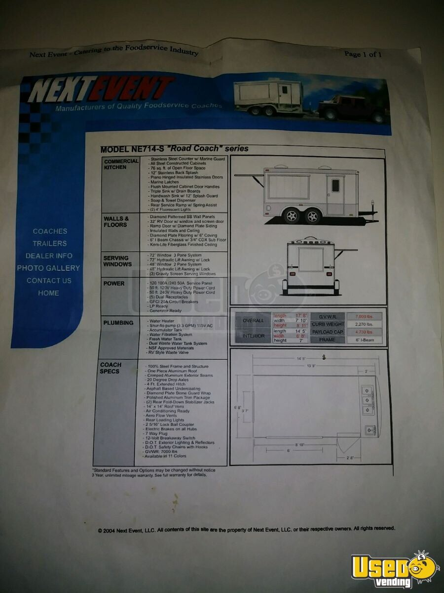 2004 Food Concession Trailer Concession Trailer Breaker Panel California for Sale - 14