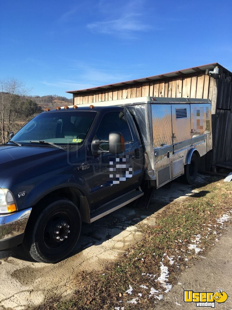 2004 Ford F350 Food Truck Air Conditioning West Virginia Gas Engine for Sale - 2