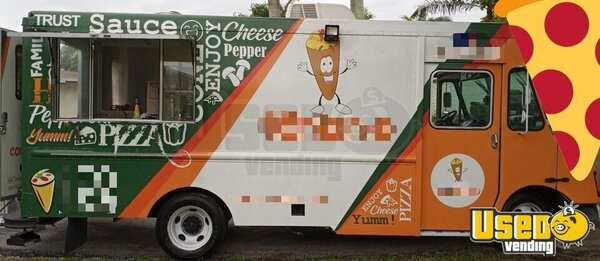 2004 P42 Step Van Pizza Truck Pizza Food Truck Florida Diesel Engine for Sale