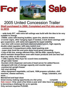 2005 Food Concession Trailer Concession Trailer Diamond Plated Aluminum Flooring Michigan for Sale