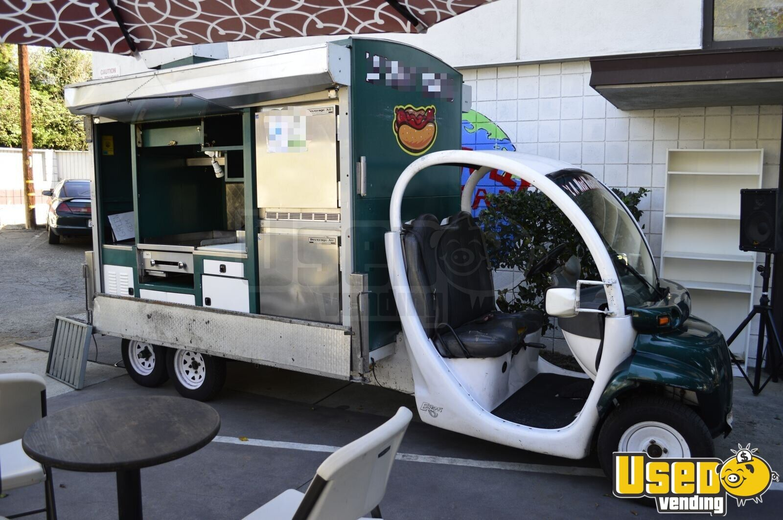 2005 Gem Cart + Kitchen Lunch Serving Food Truck Concession Window California for Sale - 2