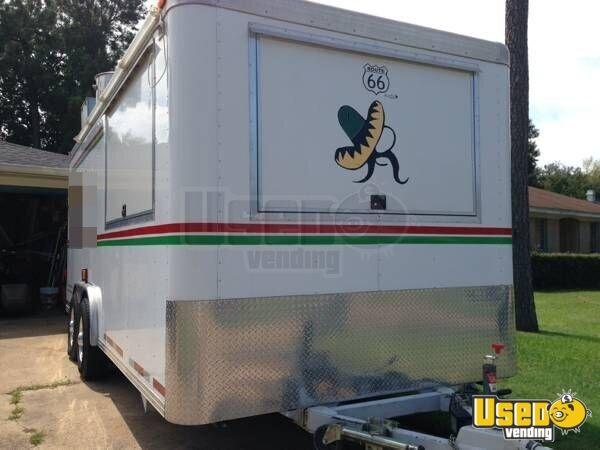 2005 Kitchen Food Trailer Concession Window Texas for Sale - 3
