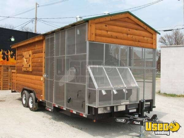 24 X 8 Southern Yankee Bbq Log Cabin Concession Trailer