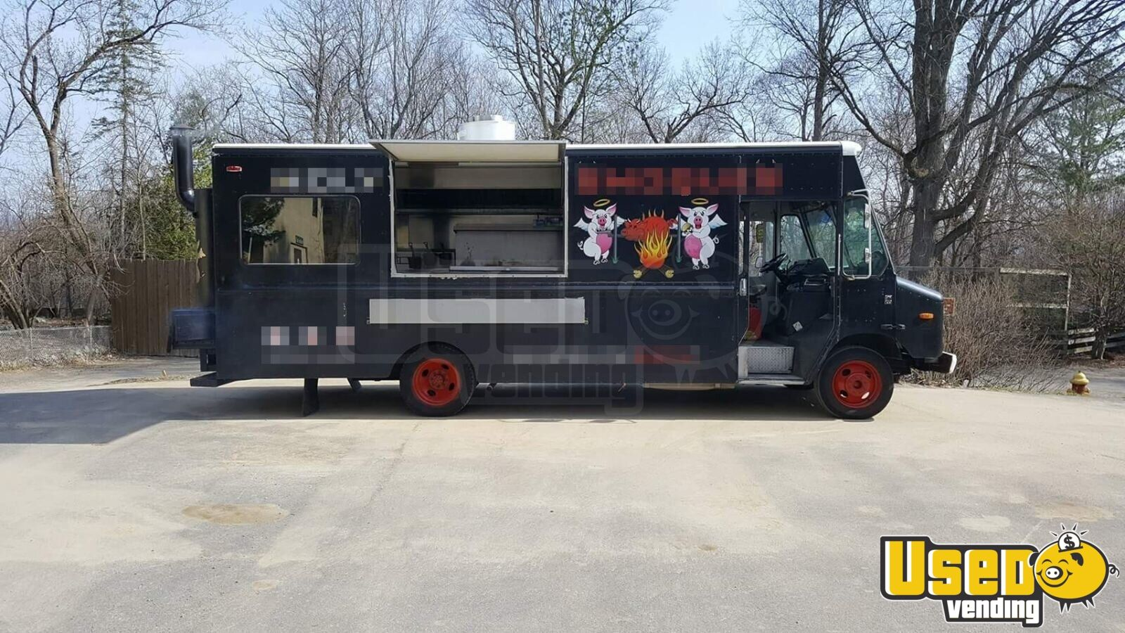 2005 Step Van Barbecue Food Truck Barbecue Food Truck Concession Window New York Diesel Engine for Sale - 2