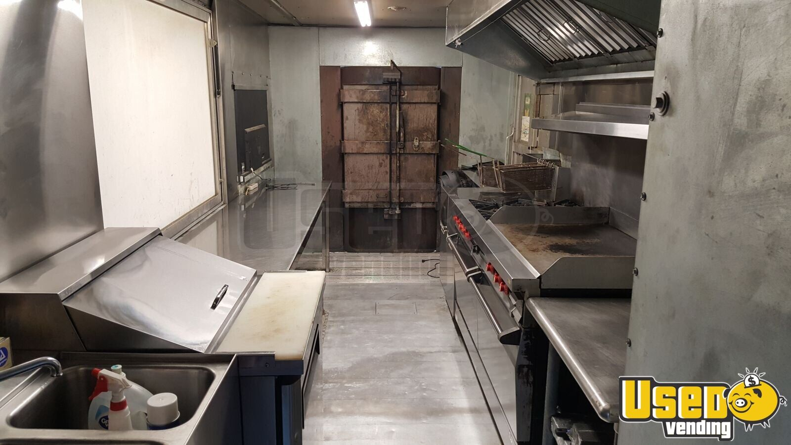 2005 Step Van Barbecue Food Truck Barbecue Food Truck Propane Tank New York Diesel Engine for Sale - 8