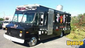 2005 Step Van Barbecue Food Truck Barbecue Food Truck Stainless Steel Wall Covers New York Diesel Engine for Sale
