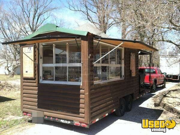 2005 - 28' Custom Built Log Cabin Style BBQ Concession Trailer!!!