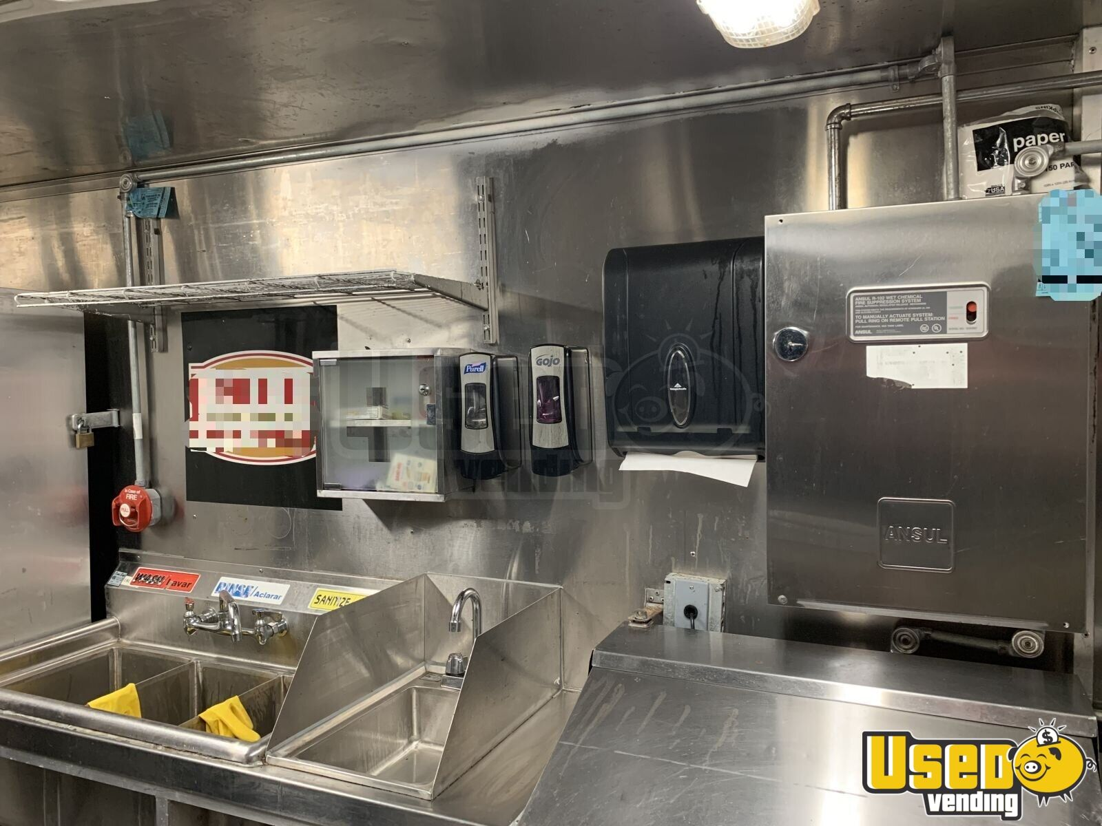 2006 Freightliner Mt45 Food Truck Stainless Steel Wall Covers Florida Diesel Engine for Sale - 5