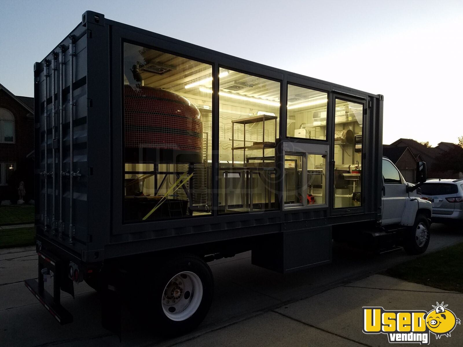 2006 Pizza Food Truck Air Conditioning Michigan Diesel Engine for Sale - 2