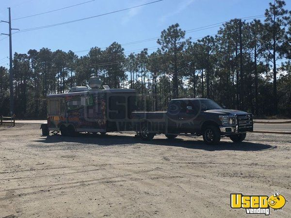 2007 Food Concession Trailer Kitchen Food Trailer Air Conditioning North Carolina for Sale