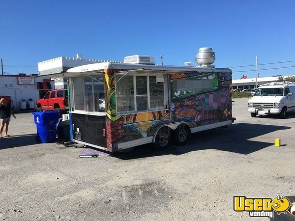 2007 Food Concession Trailer Kitchen Food Trailer Stainless Steel Wall Covers North Carolina for Sale