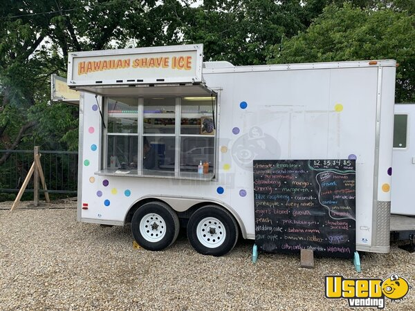 2007 Shaved Ice Concession Trailer Snowball Trailer Concession Window Kansas for Sale
