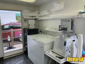 2007 Shaved Ice Concession Trailer Snowball Trailer Exterior Customer Counter Kansas for Sale