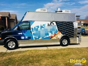 2008 Chevy Express G3500 Food Truck Air Conditioning Indiana Gas Engine for Sale