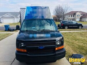 2008 Chevy Express G3500 Food Truck Cabinets Indiana Gas Engine for Sale
