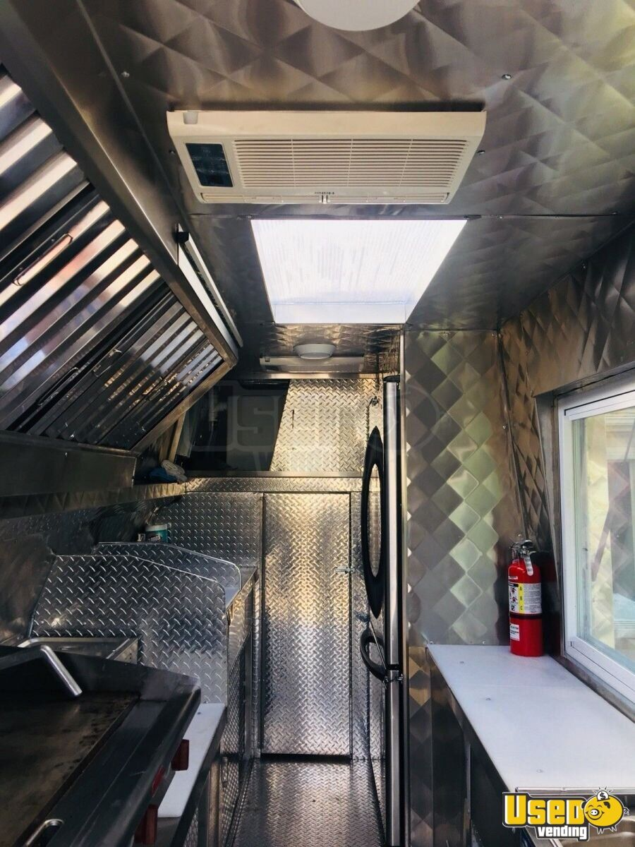 2008 Chevy Express G3500 Food Truck Floor Drains Indiana Gas Engine for Sale - 7