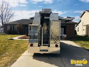 2008 Chevy Express G3500 Food Truck Stainless Steel Wall Covers Indiana Gas Engine for Sale