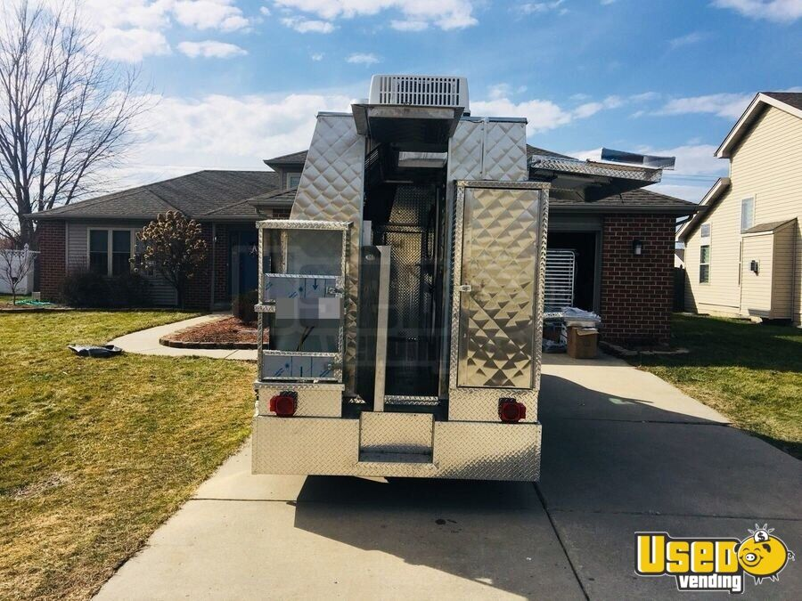 2008 Chevy Express G3500 Food Truck Stainless Steel Wall Covers Indiana Gas Engine for Sale - 5
