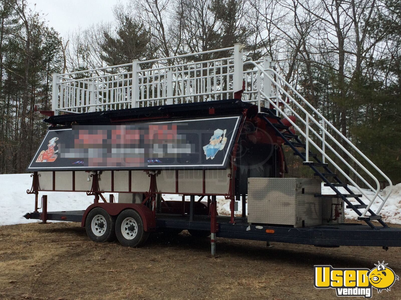 2008 Custom Barbecue Food Trailer Cabinets New Hampshire for Sale - 2