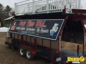 2008 Custom Barbecue Food Trailer Diamond Plated Aluminum Flooring New Hampshire for Sale