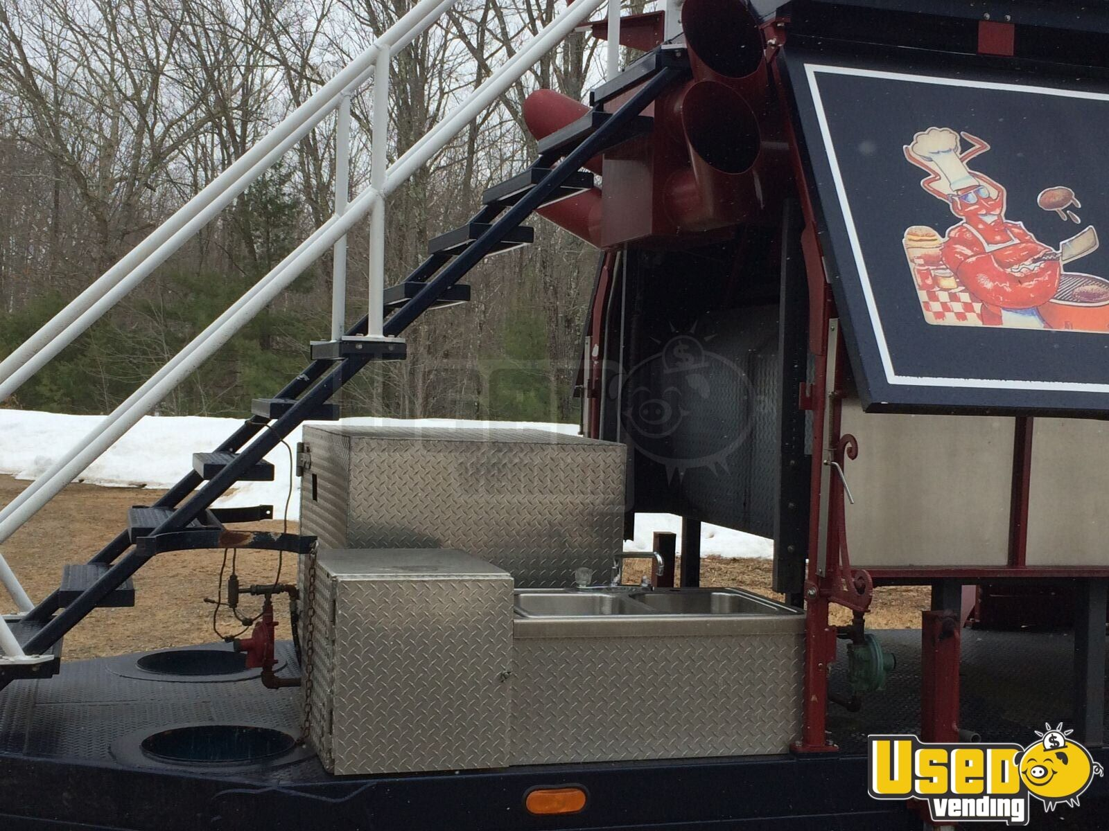 2008 Custom Barbecue Food Trailer Generator New Hampshire for Sale - 6