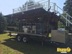 2008 Custom Barbecue Food Trailer Insulated Walls New Hampshire for Sale