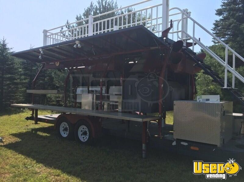 2008 Custom Barbecue Food Trailer Insulated Walls New Hampshire for Sale - 3