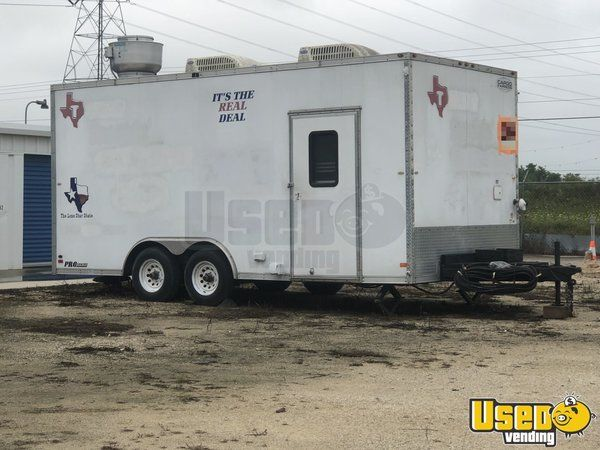 2008 Food Concession Trailer Kitchen Food Trailer Awning Texas for Sale